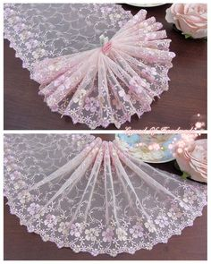 Diy Crafts - Home-Find great deals for Wide Embroidered Tulle Lace Trim~Light Pink+Pink+Light Gold~Ode to Joy~. Shop with confidence on eBa Stick Wall Art, Ode To Joy, Wedding Cards Handmade, Dress Card, Kids Room Art, Silk Ribbon Embroidery, Fun Crafts For Kids, Diy Crafts, Arts And Crafts