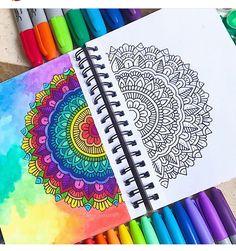 Mandala Pattern, Mandala Design, Pattern Art, Mandala Art Lesson, Mandala Artwork, Bullet Journal Banner, Bullet Journal Art, Mandela Drawing, Dibujos Zentangle Art