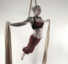Aerial Silk Dancing.  Bad ass.
