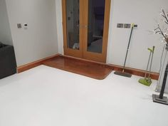 High Gloss Pearl White Epoxy Resin Flooring Polished Modern Interior Design Flooring Home Renovation. Residential Home Renovation Designed and Fit Using Jenflow Systems Ltd Epoxy Resin Supplies, UK Ireland Scotland Training, Machinery and Epoxy Resin Preparation Tools. Epoxy Resin Flooring, Epoxy Countertop, Epoxy Floor, Epoxy Resin Supplies, Marble Effect, Modern Interior Design, Home Renovation, Pearl White, High Gloss