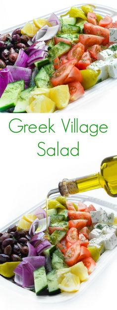 Greek Village Salad - A summer favorite recipe for dinner meals!
