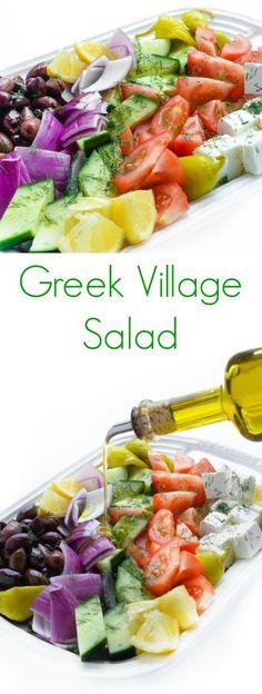 Greek Village Salad - A summer favorite recipe for dinner meals!