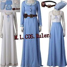 8ef3afd969 Original Westworld Dolores Blue Dresses Cosplay Costume Custom Size Full  Suit