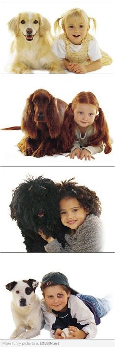 Resemblance between Humans and Dogs. (I always compare humans with their dogs, and a lot of times they match!! :D)