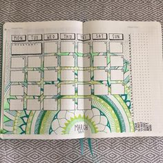 I finished my march monthly view video is uploading now hope you enjoy it! Also... HAPPY VALENTINES DAY ❤️❤❤️❤❤️❤️❤️ #pgwbulletjournals #plannernerd #bulletjournal #bujo #mandala #monthlyspread #showmeyourplanner