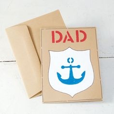 Show Dad how much you love and appreciate him by making him this Father's Day Anchor Card