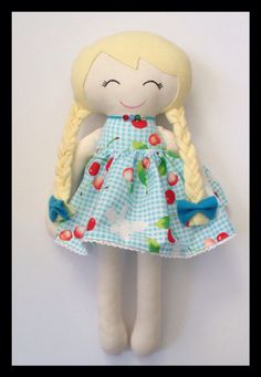 Handmade Fabric Cloth Doll Plush Doll Rag Doll by LittleLuckies2, $65.00