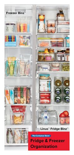 By establishing order in your refrigerator — a space you access at least three times a day — you'll enjoy a stress-free meal preparation experience. Plus, you won't forget (or overlook) ingredients you already have on-hand — a major money-saver. Refrigerator Organization, Kitchen Organization Pantry, Kitchen Storage, Kitchen Pantry, Kitchen Decor, Organized Pantry, Kitchen Refrigerator, Pantry Storage, Refrigerator Freezer