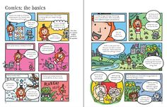 See inside 'Write and draw your own comics' from Usborne   #children's #books #new #October #DIYcomics #comicstrips #comics #creative #activities