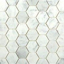 Carrara Hexagon Marble Mosaic Tile