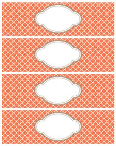FREE printable quatrefoil pattern labels and tags