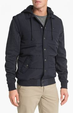 rvca mixed media hooded jacket. @Ryan Sullivan Batalla