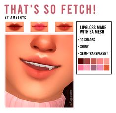 That& so Fetch! - lipgloss by amethyc Sims 4 Body Mods, Los Sims 4 Mods, Sims 4 Game Mods, Sims 4 Cc Eyes, Sims 4 Mm Cc, Sims 4 Mods Clothes, Sims 4 Clothing, The Sims 4 Skin, The Sims 4 Packs
