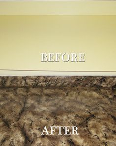 Paint countertops to look like granite.