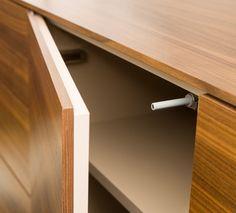 Korpusmöbel: Grifflösung Tip on Wood Veneer, Real Wood, Furniture Design, Storage, Design Ideas, Home Decor, Seating Areas, Timber Wood, Living Room