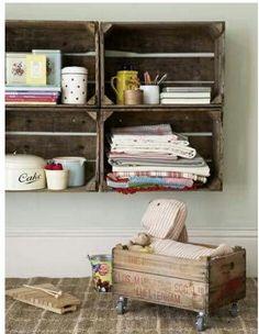 #boxes #wacales #rústico #reciclar #sencillo #homestyle #homeinteriors #wood #cajitas