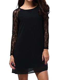 Bepei Women Lace In Point Black Lace Shift Dress ** CHECK OUT @ http://www.eveningdressesoutlet.com/store/bepei-women-lace-in-point-black-lace-shift-dress/?a=5374
