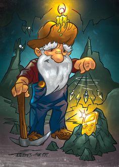 "PixelProspector Art ""Gaming Gold"" by Alberto Silva  http://www.steelraining.albertosilva.es/"