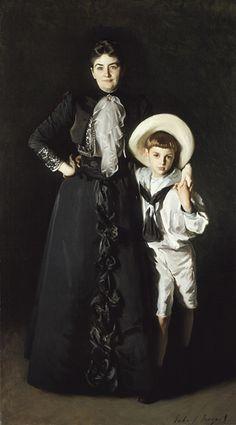 Portrait of Mrs. Edward L. Davis and Her Son, Livingston Davis by John Singer Sargent, 1890