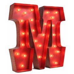 """Lighted Carnival Letter """"M"""""""