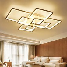 New square rings designer Modern led ceiling lights for living room bedroom Remote control iron body ceiling lamp light fixture(China (Mainland))