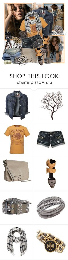 """№ 458"" by olga3001 ❤ liked on Polyvore featuring Retrò, Almost Famous, Nicole Miller, Pierre Hardy, HTC, Swarovski, Pieces and Tory Burch"
