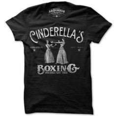 Cinderella Boxing Women Tee Blk now featured on Fab. I have and LOVE this tshirt!