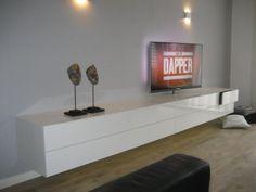 ALPHA 320 zwevend tv-meubel hoogglans wit