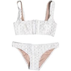 Lover Square Neck White Lace Bikini (255 AUD) ❤ liked on Polyvore featuring swimwear, bikinis, underwear, bikini, swimsuits, swim, lace bikini bottoms, white lace swimsuit, swimsuits bikinis and white lace bikini