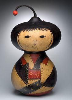 Gourd Art Doll Sculpture  by KarolsKreationsGA