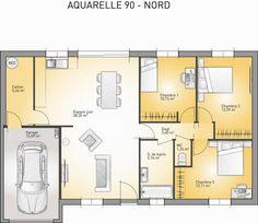 Plan achat maison neuve à construire - Maisons France Confort Aquarelle 90 Enduit