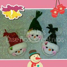 Nievitos para decorar el árbol de Navidad