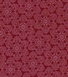 Holiday Inspirations Christmas Fabric Quilters Christmas Flakes On Red