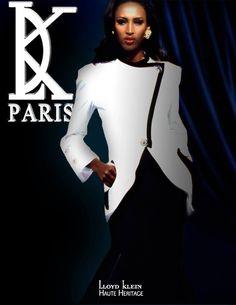 circa 1993 Lloyd Klein runway Haute Heritage with supermodel Katoucha Niane