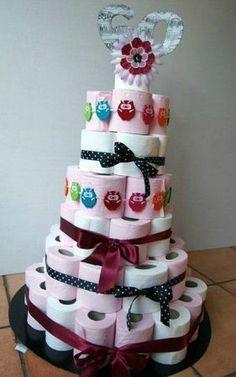 Toilet Paper Cake Housewarming