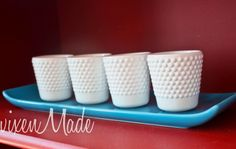 vixenMade: White Hobnail Votives