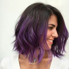 * Purple dipped Wob... Color: @mizzchoi Cut & Style: @donovanmills at @ramireztransalon #btcapproved #purplehair