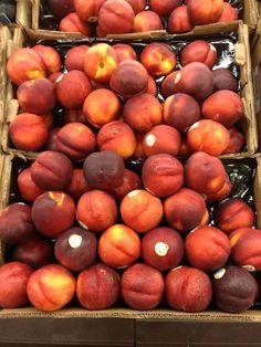 Organic nectarines at Fairway Westbury