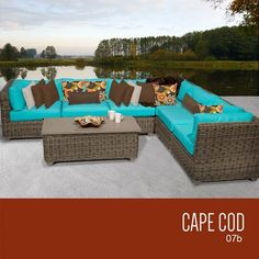 TKC Cape Cod 7 Piece Outdoor Wicker Patio Furniture Set <3 This is an Amazon Associate's Pin. Locate the item on Amazon website simply by clicking the VISIT button