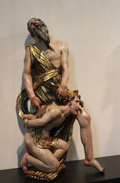 """Sacrificio de Isaac"" de Alonso Berruguete"" Museo Nacional de Escultura de Valladolid"