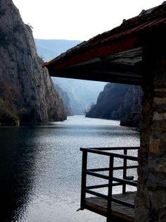 Canyon of Matka near Skopje