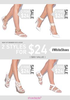 Treat yourself to new shoes. Take our Style Quiz to unlock 2 styles for $24!
