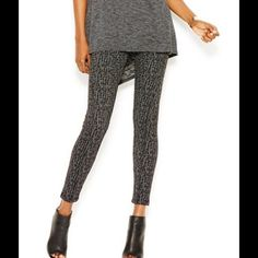 NEW RACHEL Rachel Roy Leggings rise: waistband sits below natural waist Skinny fit through hips and thighs Skinny leg Pull-on style; elastic waist Allover print Approximate inseam: 23 inches Polyester/viscose/elastane Machine washable RACHEL Rachel Roy Pants