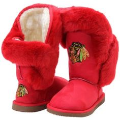 Women's Chicago Blackhawks Cuce Red Champions Boots - I so want these for when I go to games!