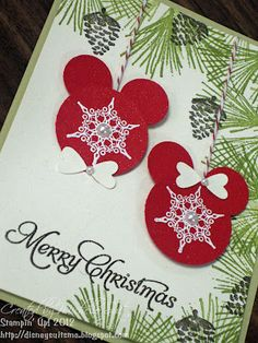 Mickey and Minnie christmas card