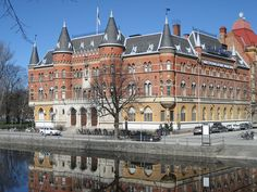 Nerikes Allenhanda (daily newspaper) offices in Orebro, Sweden.  Must see this bldg :)