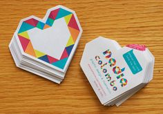 Homemade business cards stickers by Nadia Colombo, via Flickr