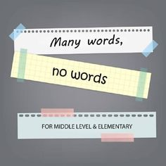 Motivation Monday: Many words, no words. FOR MIDDLE LEVEL & ELEMENTARY Community Level 1 - Acquainted https://www.originsonline.org/educator-help/many-words-no-words