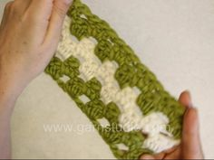 DROPS Crochet Tutorial: How to crochet Granny stripes