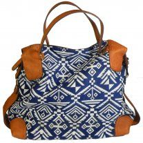 Blue and White Tribal Bag